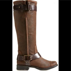 UGG Dree Suede Harness Boot Brown Size 7.5